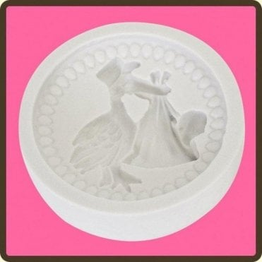 Baby Stork - Cupcake Decorating Silicone Mould