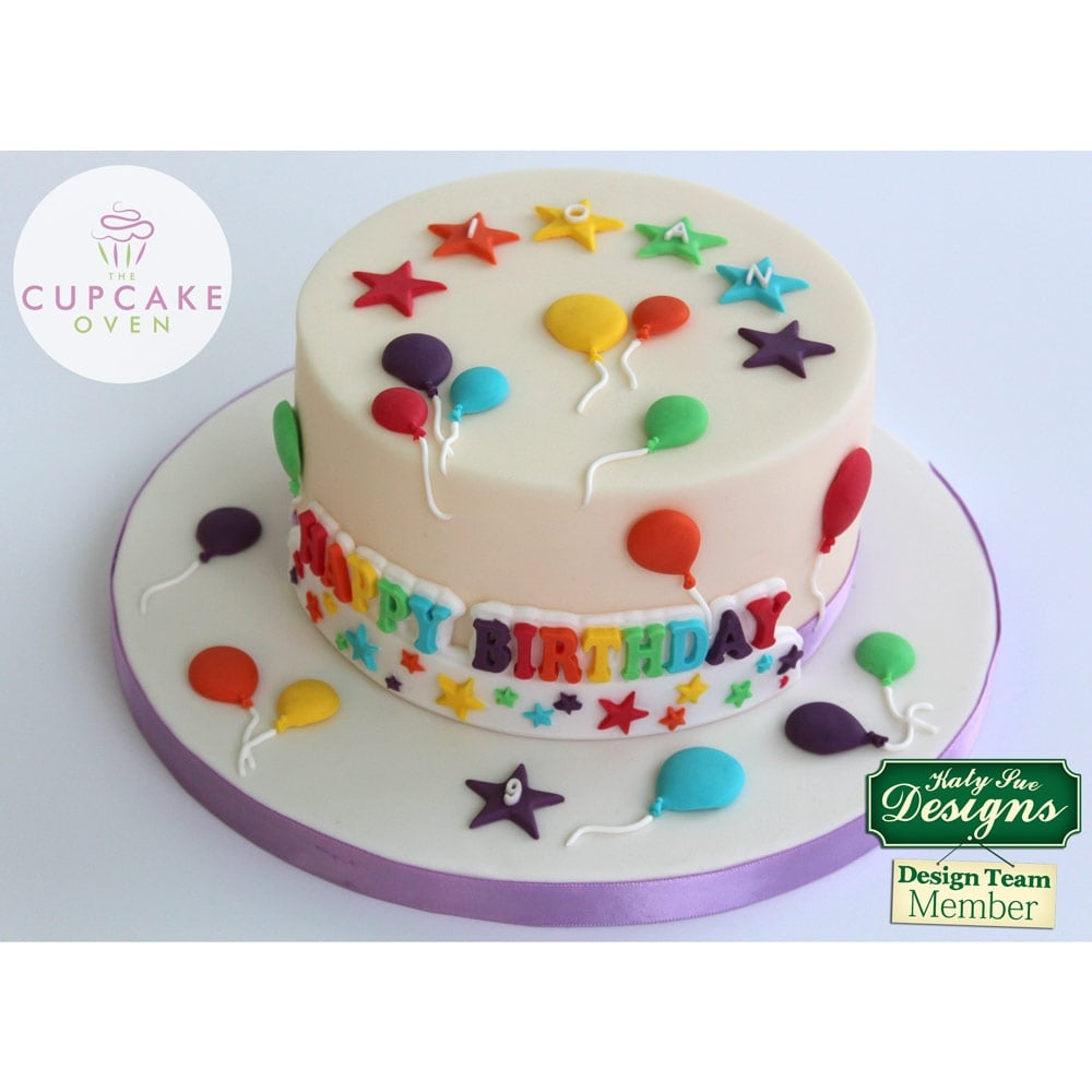 Balloons - Cake Decorating Silicone Mould by Katy Sue Designs
