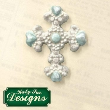 Beaded Cross - Cake Decorating Silicone Mould