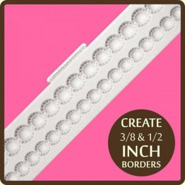 Beaded Pearl Borders - Cake Decorating Silicone Border Mould