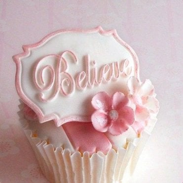 Believe - Mini Plaque - Cake Decorating Silicone Mould