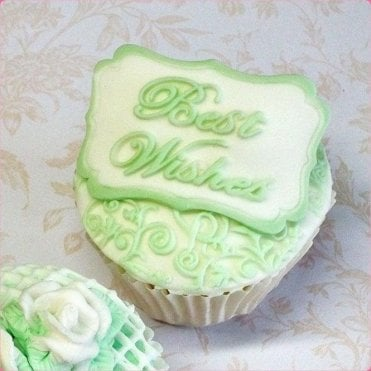 Best Wishes - Mini Plaque - Cake Decorating Silicone Mould