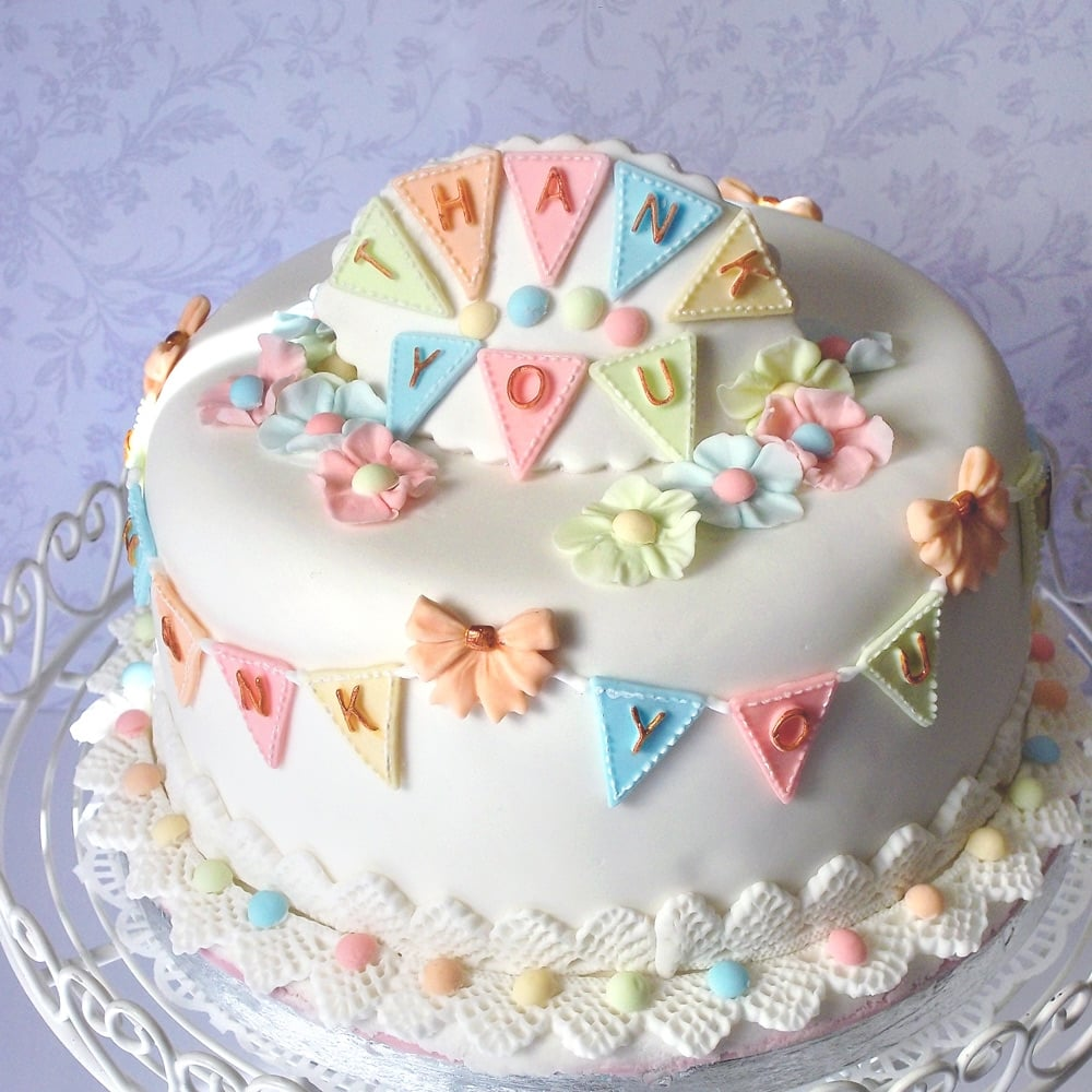 Bunting Alphabet - Cake Decorating Silicone Mould by Katy ...
