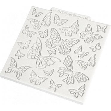 "Butterfly 4"" x 4"" Design Mat - Cake/Cupcake Decorating Silicone Texture Mould"
