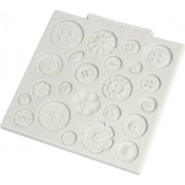 "Buttons 4"" x 4"" - Cake/Cupcake Decorating Silicone Texture Mat"