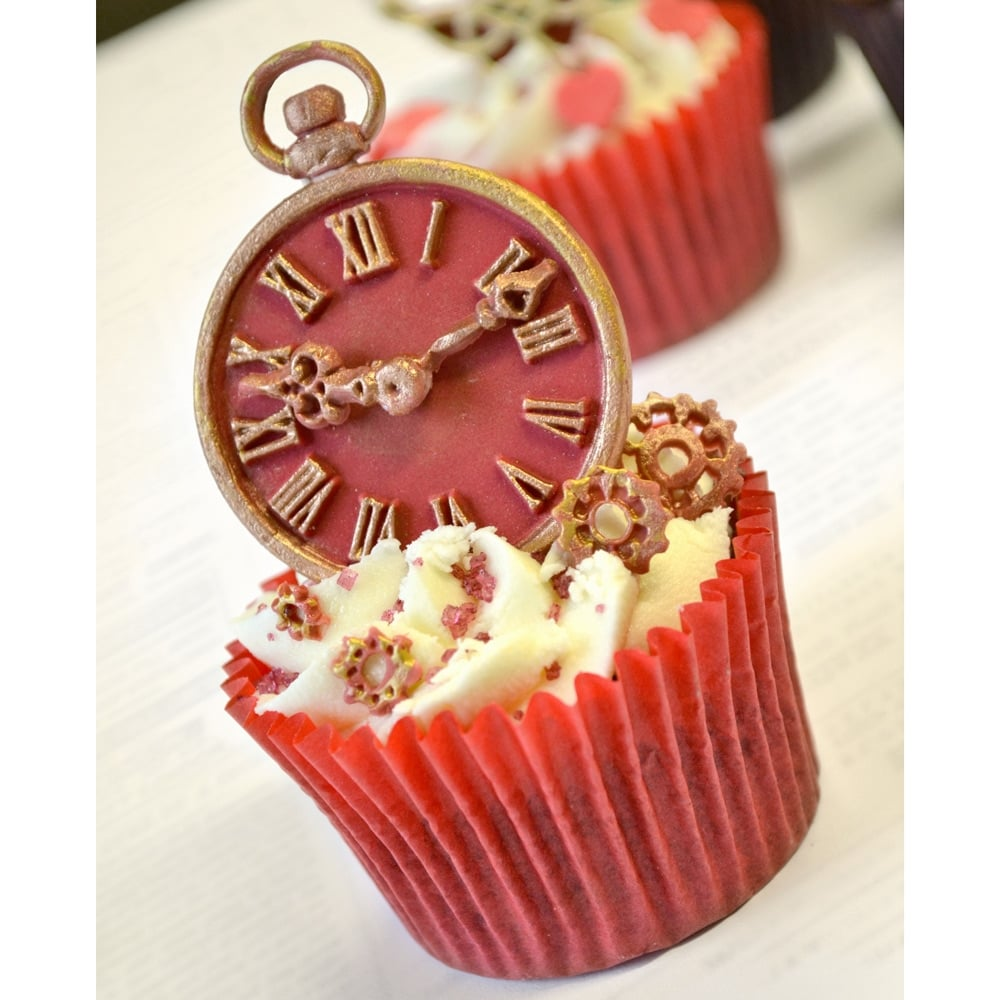 Clock - Cake Decorating Silicone Mould by Katy Sue Designs