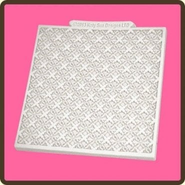 "Flemish 4"" x 4"" Design Mat - Cake/Cupcake Decorating Silicone Texture Mould"