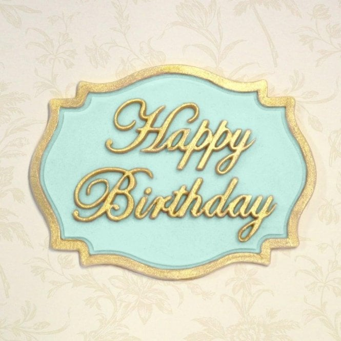 happy birthday mini plaque cake decorating silicone mould by