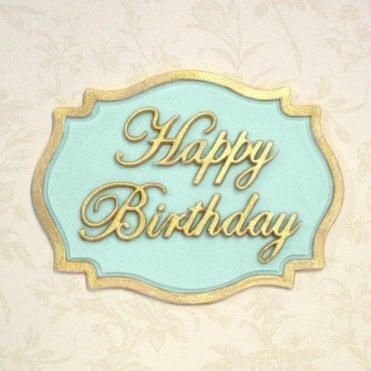 Happy Birthday - Mini Plaque - Cake Decorating Silicone Mould