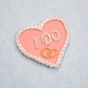 'I DO' Heart Wedding Plaque - Cake Decorating Silicone Mould