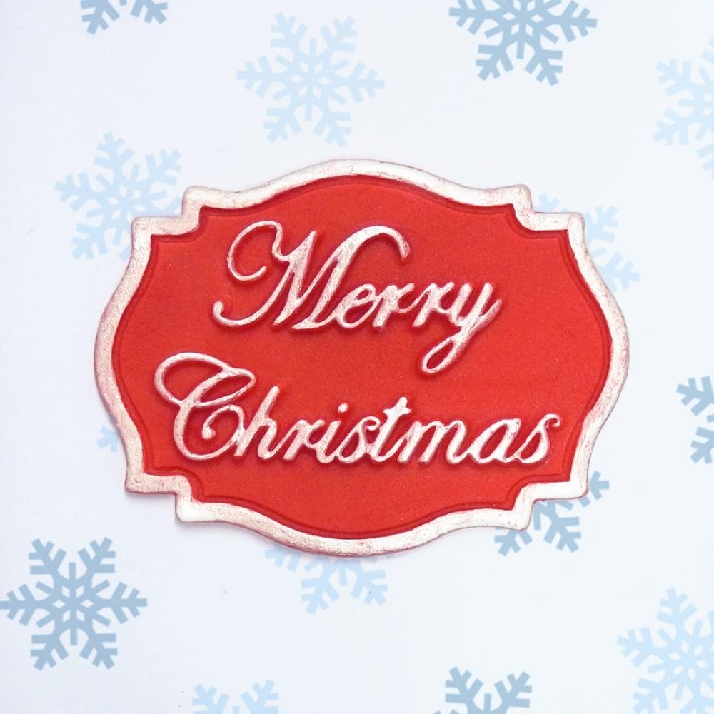 Merry christmas mini plaque cake decorating silicone