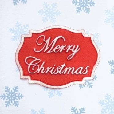 Merry Christmas - Mini Plaque - Cake Decorating Silicone Mould