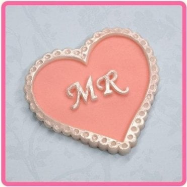'MR' Heart Wedding - Cake Decorating Silicone Mould