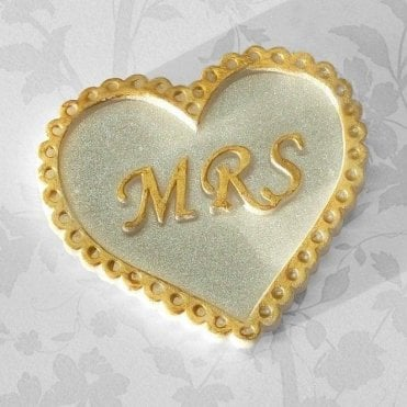 'MRS' Heart Wedding - Cake Decorating Silicone Mould