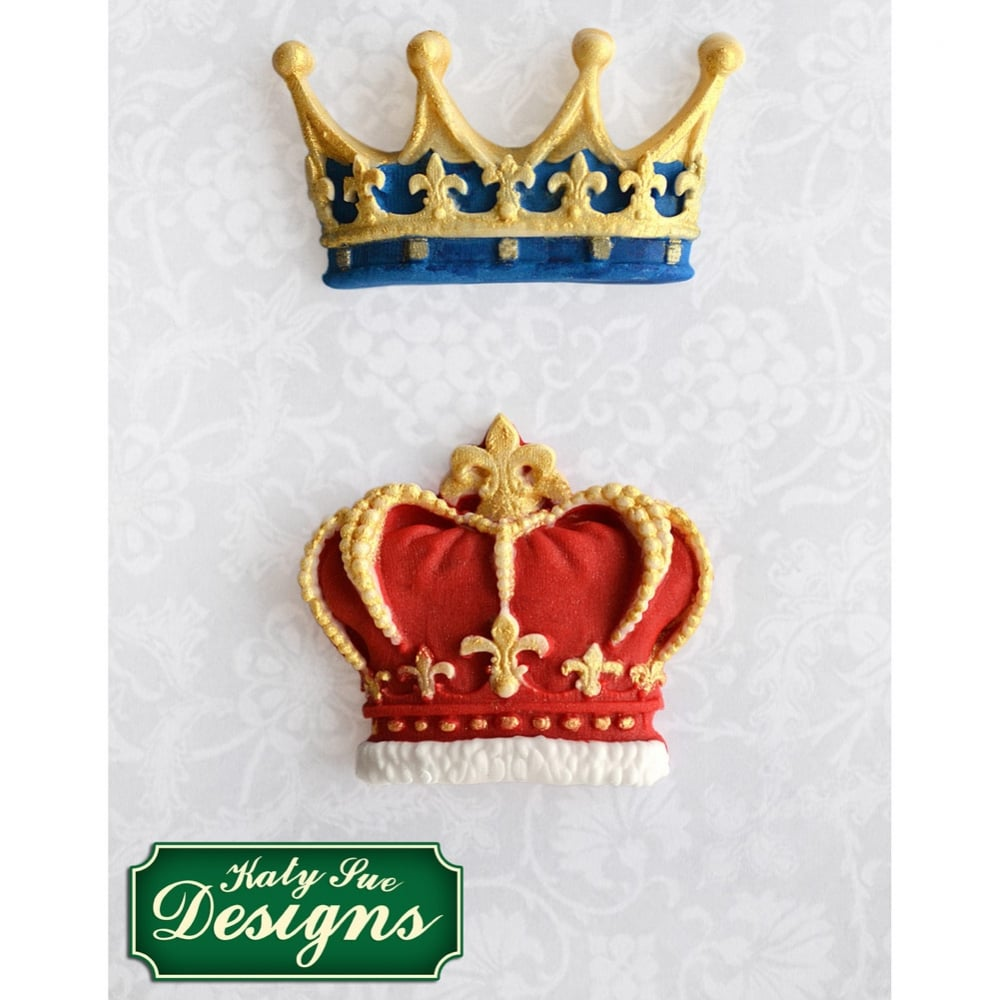 Cake Decorating Crowns : Prince & Princess Crowns - Cake Decorating Silicone Mould ...