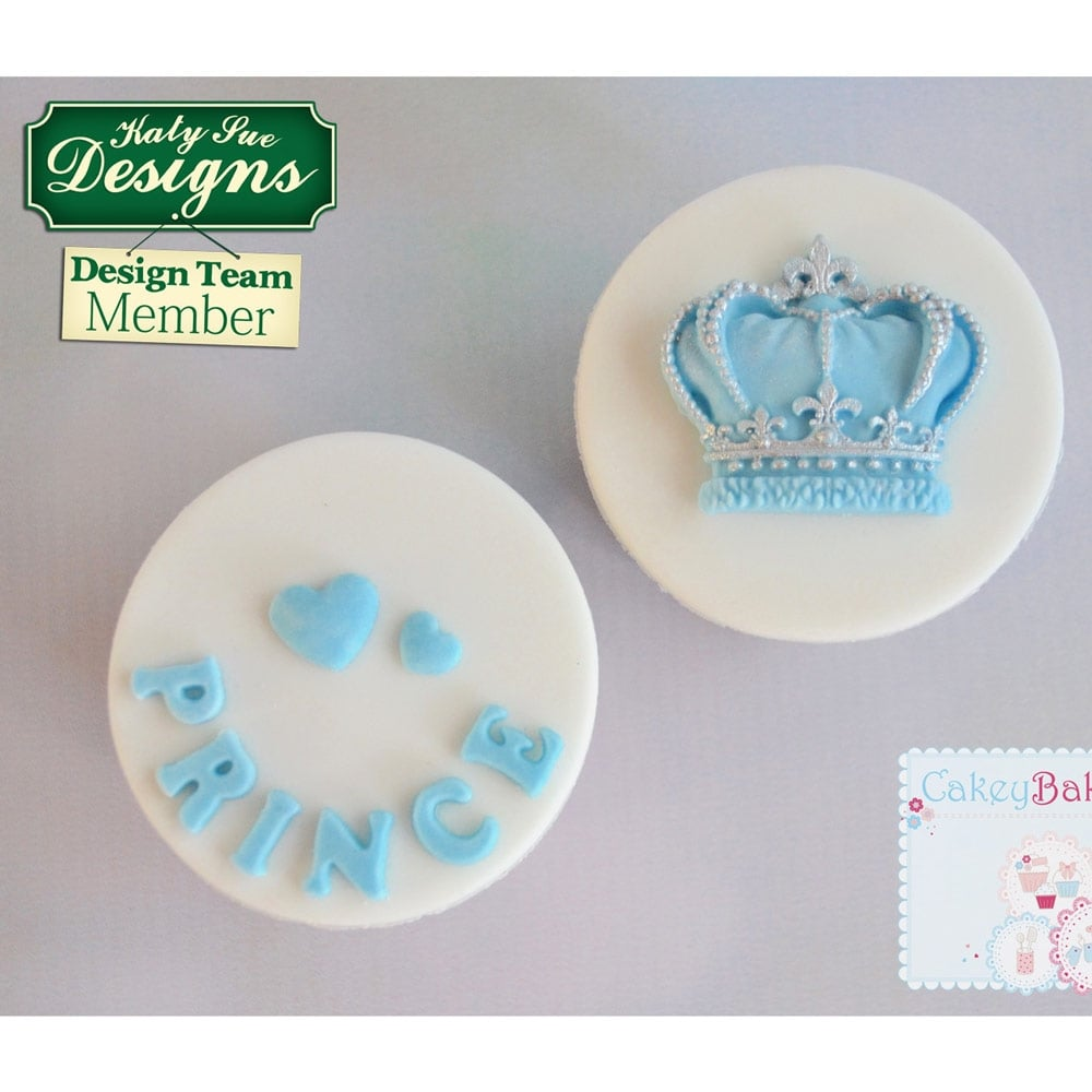Cake Decorating Questions : Prince & Princess Crowns - Cake Decorating Silicone Mould ...