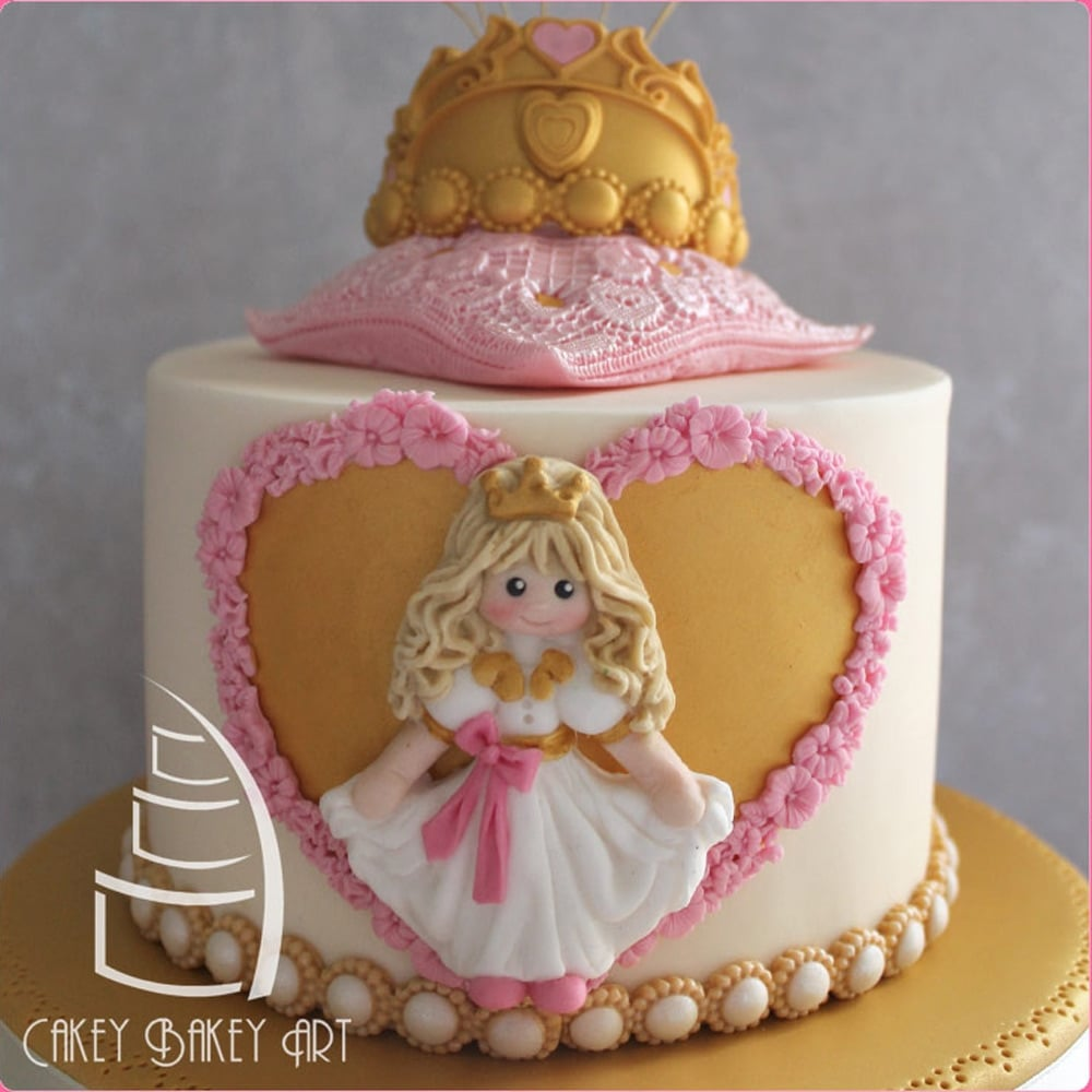 Princess Cake Decorating Silicone Mould By Katy Sue Designs