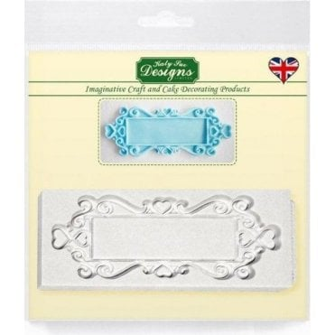 Rectangle Hearts Decorative Plaque - Cake Decorating Silicone Mould