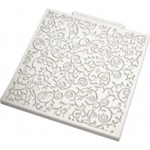 "Romantic Swirls 4"" x 4"" Design Textured Mat - Cupcake Decorating Silicone Mould"