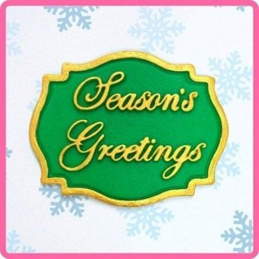 Seasons Greeting - Mini Plaque - Cake Decorating Silicone Mould