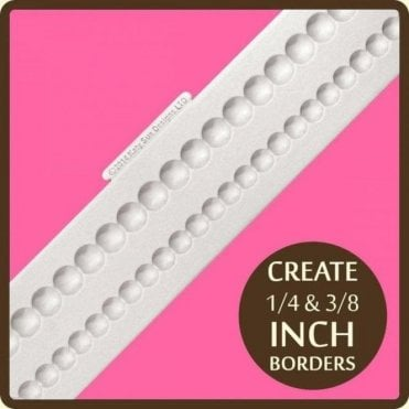 Shallow Pearl Borders - Cake Decorating Silicone Border Mould