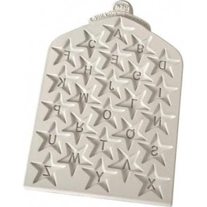 Star Alphabet - Cake Decorating Silicone Mould