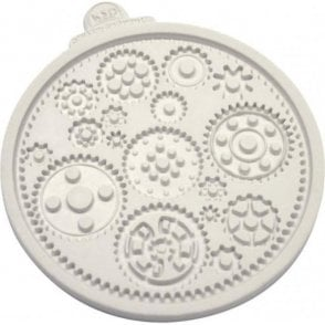 Steampunk Themed Cogs & Wheels - Cake Decorating Silicone Mould