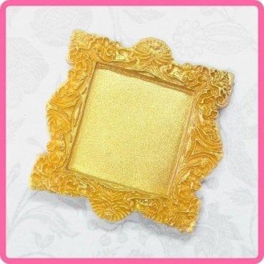 Vintage Square Miniature Frame - Cake Decorating Silicone Mould