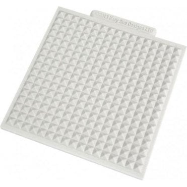 "Waffle 4"" x 4"" - Cake/Cupcake Decorating Silicone Texture Mat"