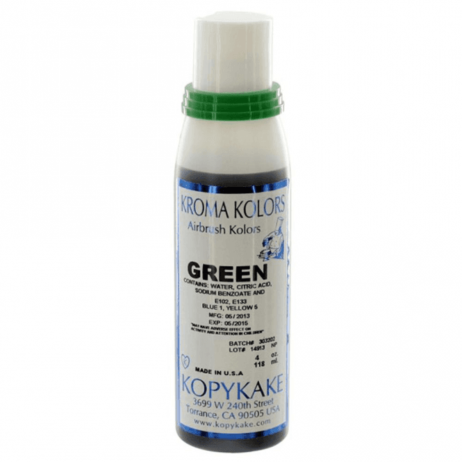 Kroma Kolors Green - Kopykake Airbrush Colour - (118ml/4oz)