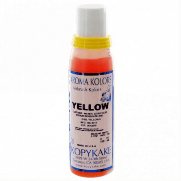 Yellow - Kopykake Airbrush Colour - (118ml/4oz)
