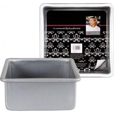 "8"" x 3"" Square Professional Grade Anodised Cake Tin"