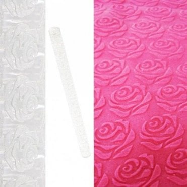 English Rose Designer Impression Crystal Clearpress™ Embossing Rolling Pin