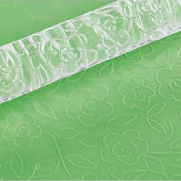Rambling Rose Designer Impression Crystal Clearpress™ Embossing Rolling Pin