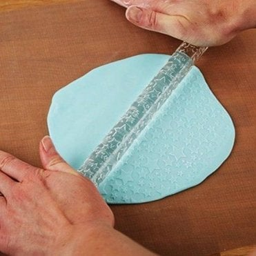 Star Designer Impression Crystal Clearpress™ Embossing Rolling Pin