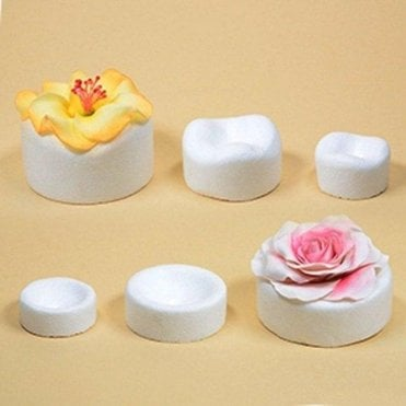 6 Assorted Sugar Flower Forming Cups/Pockets
