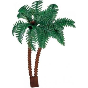 Plastic Palm Tree Topper 10cm