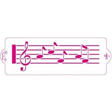 Music Score - Cake Decorating Stencil 10 x 30cm
