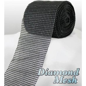 Black Diamond Glam Rhinestone Ribbon/Wrap - available by the metre