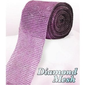 Light Pink Diamond Glam Rhinestone Ribbon/Wrap - available by the metre