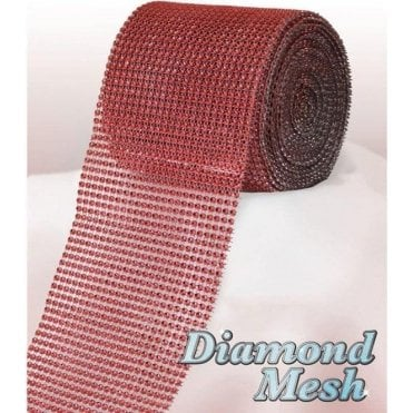 Red Diamond Glam Rhinestone Ribbon/Wrap - available by the metre