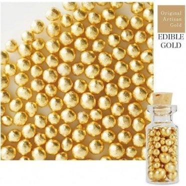 Gold Leaf Arazan Sugar Pearls 2.5g