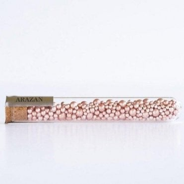 Rose Gold - Luxury Silver Leaf Arazan Sugar Pearls - 550 pearls inside