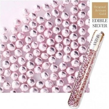 Sweet Pink - Luxury Silver Leaf Arazan Sugar Pearls - 550 pearls inside