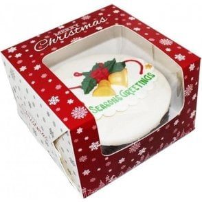 "10"" Premium Design Christmas Snowflake Window Cake Boxes"