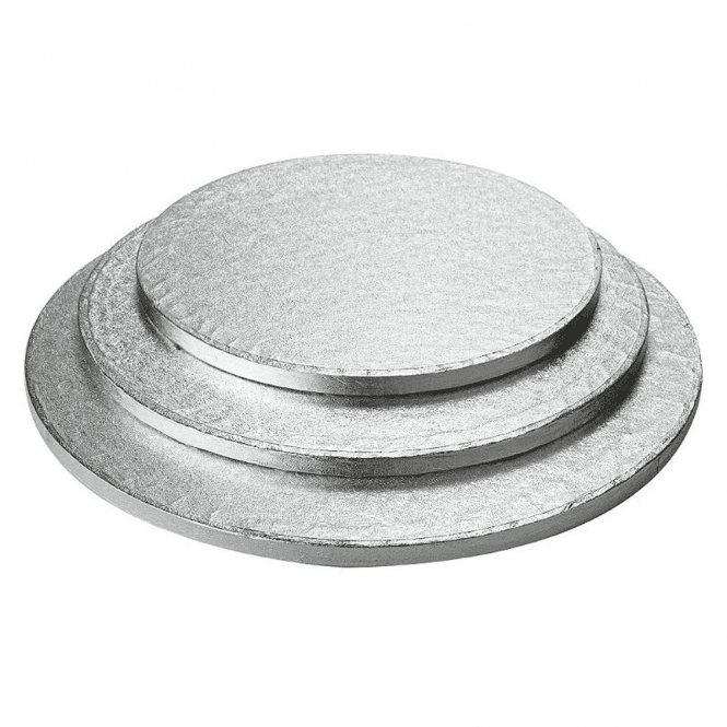 "Packaging Pro 14"" Silver Round Foiled Cake Drum/Board 12mm Thick - *MULTI-BUY DISCOUNTS*"