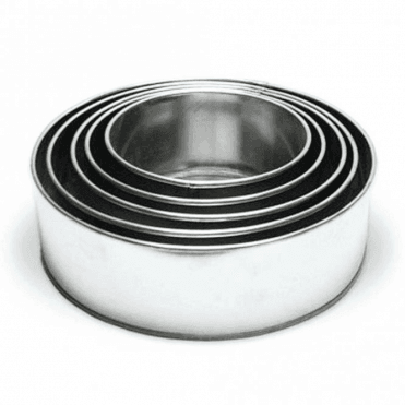 "8"" Round Cake Baking Tins - Choose Your Depth"