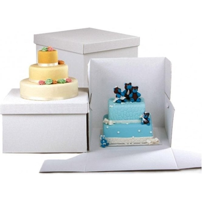 "Packaging Pro 8"" Square, Heavy Duty Extra Strong Corrugated Cake Boxes - *MULTI-BUY DISCOUNTS*"