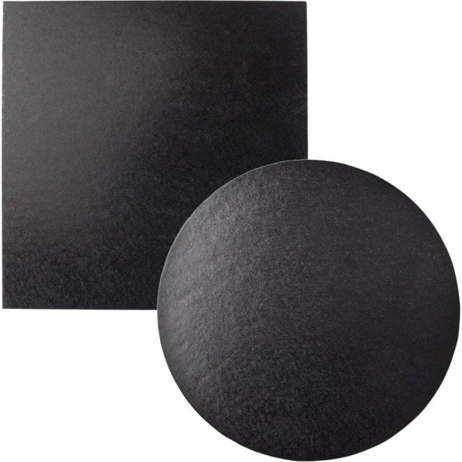 Packaging Pro Black Foiled Cake Drum/Board 12mm Thick - Choose Your Shapes & Sizes