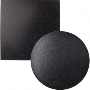 Black Foiled Cake Drum/Board 12mm Thick - Choose Your Shapes & Sizes
